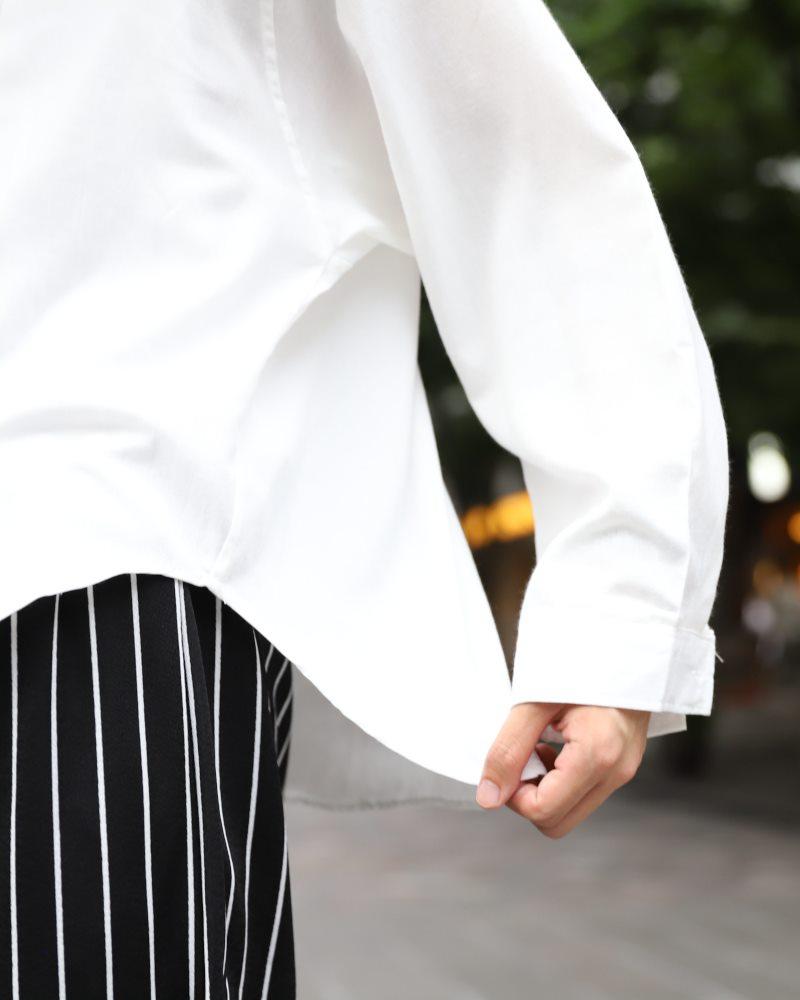 ドロップショルダーショート丈ワイドスリーブシャツの画像4
